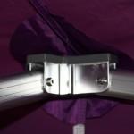Foto de pequeño detalle interior de la carpa plegable de calidad