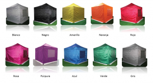 Carpa plegable de colores