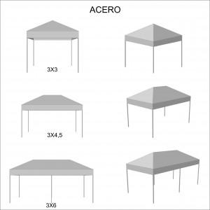 foto esquema medidas carpa plegable de acero