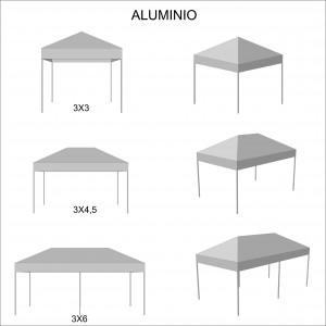 foto esquema medidas carpa plegable de aluminio