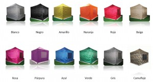 carpas plegables de colores