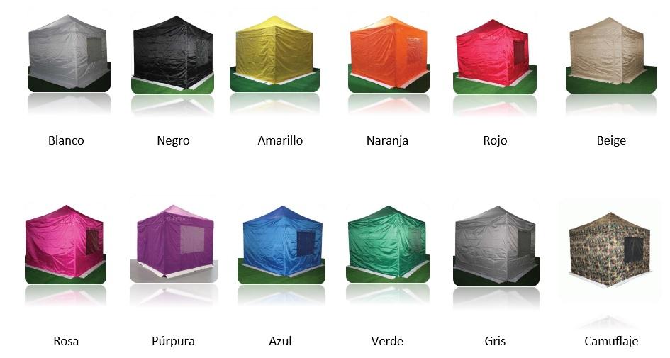 Foro de la gama de colores de nuestras carpas plegables