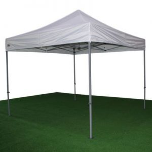 carpa plegable blanca de 3x3