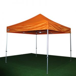 carpa plegable naranja