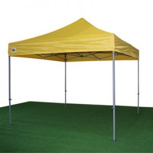 carpa plegable amarilla