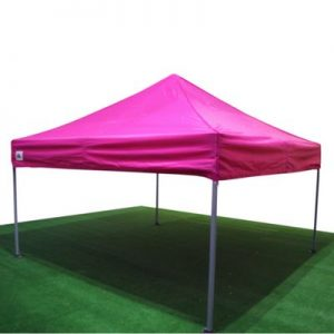 carpa plegable rosa
