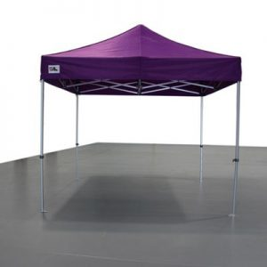 carpa plegable morada
