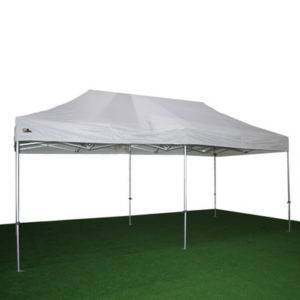 carpa plegable blanca de 3x6