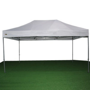 carpa plegable blanca 3x4'5 m.