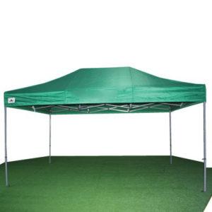 carpa plegable verde de 3x4'5