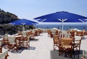 parasoles para terraza de hotel