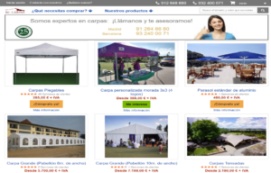 www.ComprarCarpa.es, web de venta online de carpas