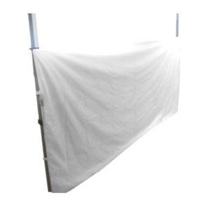 Media cortina para carpa plegable